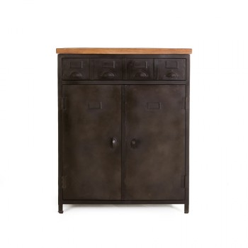 Cabinet Industrial - 2drs. 4 drawers meubelcollecties