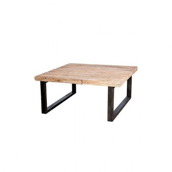 Tafels Solid coffee table Mango with metal leg Eleonora