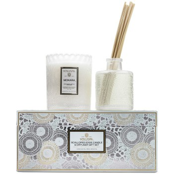 SCALLOPED EDGE CANDLE & DIFFUSER GIFT SET meubelcollecties