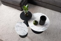 Tafel Snow side table ROUND M Zuiver