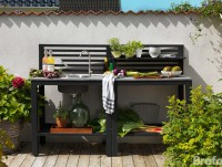 Buitenkeuken BELLAC OUTDOOR KITCHEN BLACK Center BRAFAB BUITENMEUBELEN