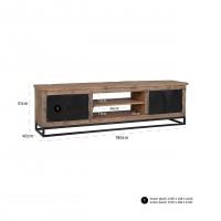 Kasten TV-dressoir Raffles 4-deuren, gerecyceld hout Richmond Interiors