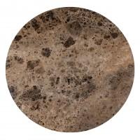 Eettafels Eettafel Orion 140Ø met bruin marmer Richmond Interiors