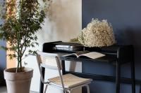 Tafel Barbier Black desk table Zuiver