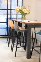Stoelen Franky Velvet counter stool  barstool Dutchbone