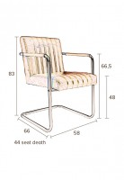 Stoelen Stitched armchair Dutchbone