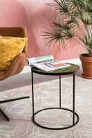 Tafel side table Glazed Zuiver