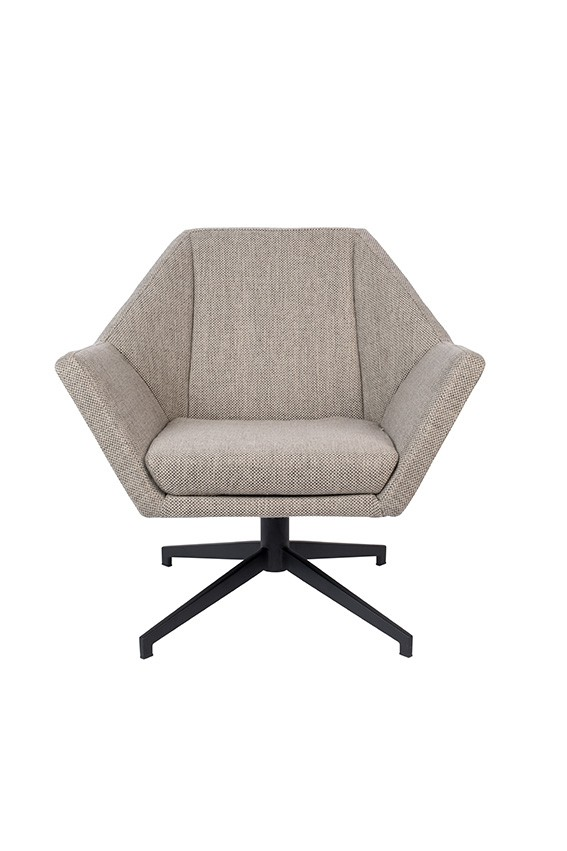 Zetel uncle jesse lounge chair hocker zuiver for Lounge zetel